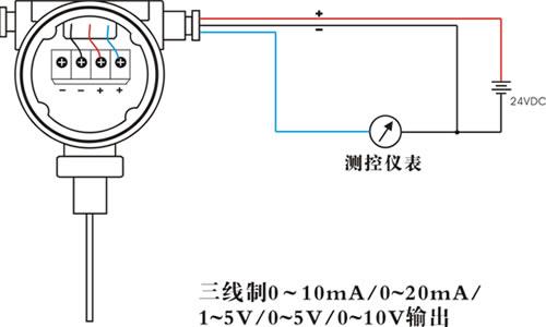 再来看一张三线制压力变送器的示意图.